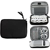 Cable Bag Case Travel Electronic Accessories Organiser Carry Bag Double Layer Universal Travel Cable Case Portable Gadget Cablebags Storage for usb Hard Drive Phone Charge Memory Card Power Bank