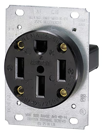 Superb Leviton 279 50 Amp 125 250 Volt Nema 14 50R 3P 4W Flush Wiring 101 Capemaxxcnl