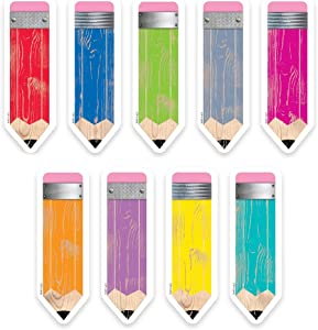 "Creative Teaching Press Upcycle Style Pencils 6"" Designer Cut-Outs (6592)"