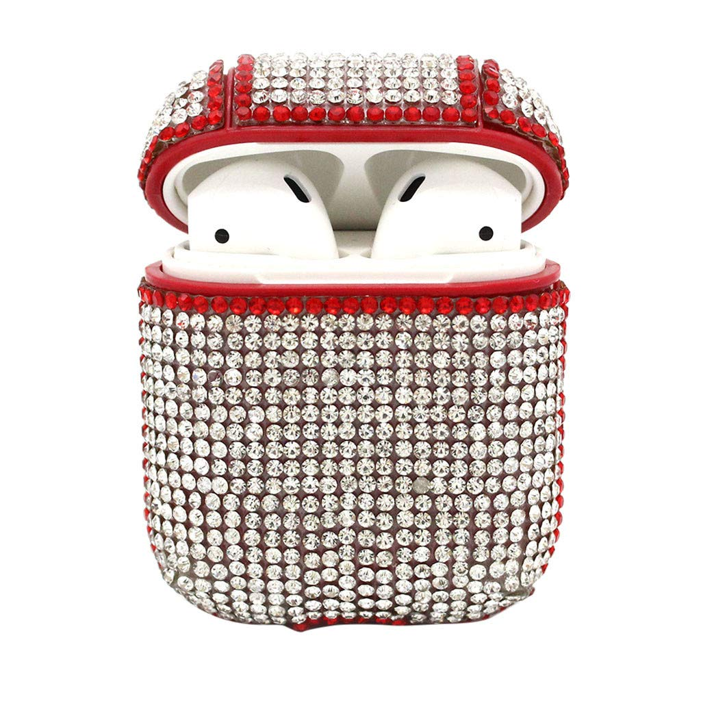 Sikye Silicone Knitting Protective Cover and Skin Travel Carrying Case for Apple Airpods Earphones Earbuds (Red)