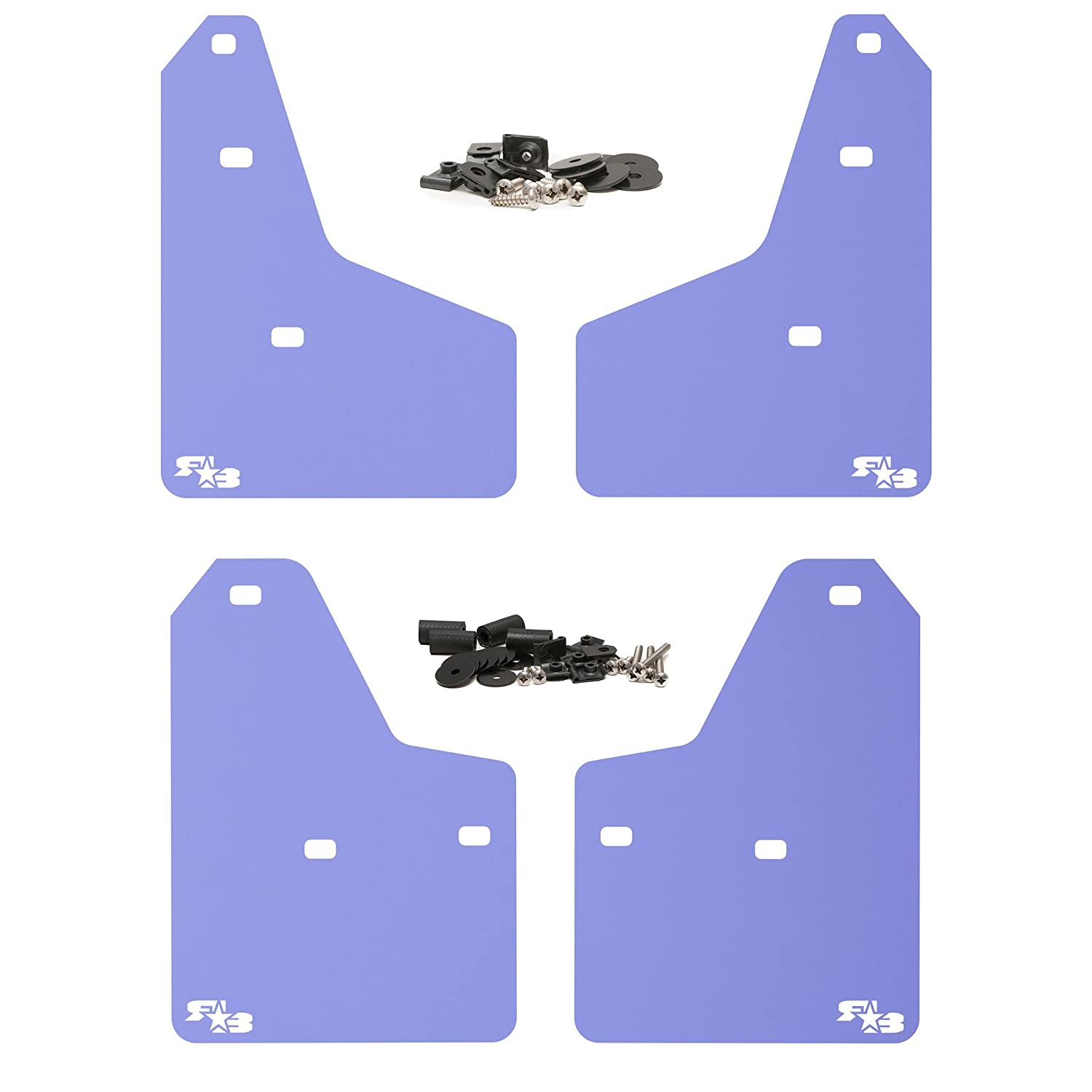 Set of 4 Multiple Colors Available Fits All MK3 Models Black with Red Logo, Originalz Includes All Hardware and Detailed Instructions RokBlokz Mud Flaps for 2012+ Ford Focus