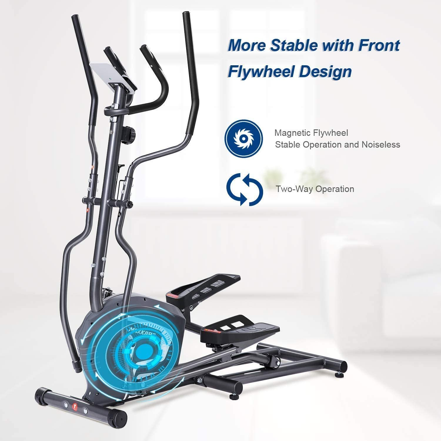 Gym Exercise Step Machine Air Walker for Exercise in the Office /& at Home Workplace Health Resistance adjustment Leg Elliptical Cross Trainer