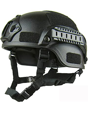 Casco Protector Ajustable, Mich 2000 Action Version ABS Tactical Casco con Soporte NVG y rieles