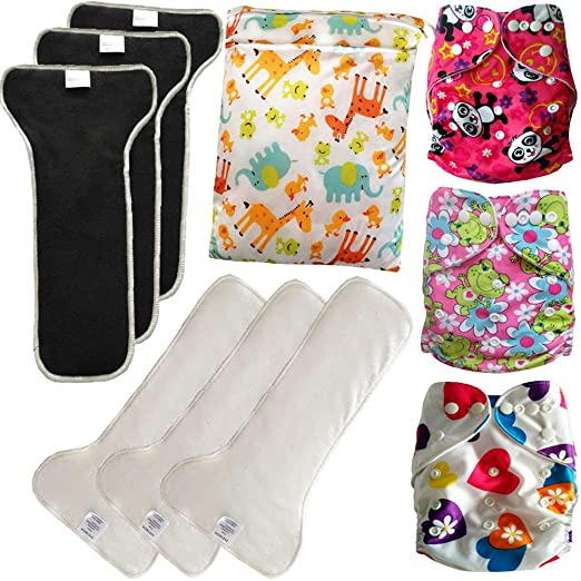 EASYMOM Baby Cloth Diapers Set Pack
