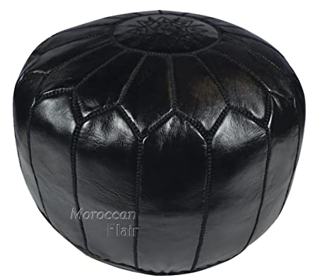 Prime Moroccan Flair Genuine Handmade Moroccan Leather Pouf Bedroom Living Room Round Ottoman Authentic Goat Skin Leather Eco Friendly Materials Lamtechconsult Wood Chair Design Ideas Lamtechconsultcom