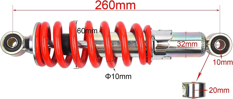 10.25 260mm Mono Shock Replacement for 110cc 125cc 140cc 200cc 250cc Dirt Pit Bike Red