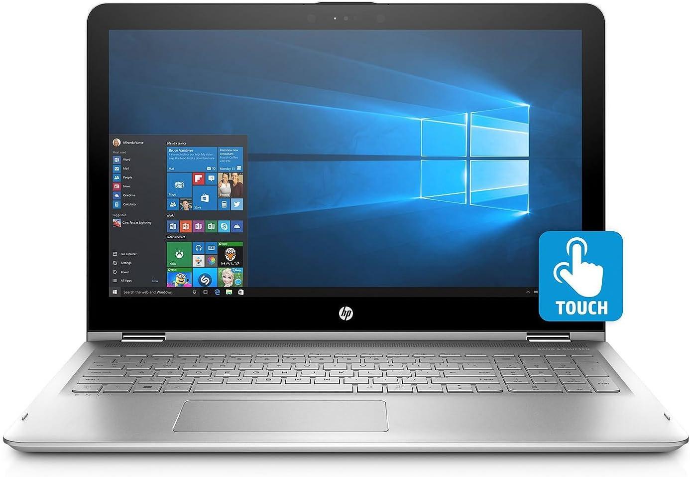 HP ENVY x360 15.6 Inch Laptop Computer (Intel Core i7-8550U 1.8GHz, 16GB DDR4 RAM, 128GB SSD + 1TB HDD, Backlit Keyboard, B&O Speakers, Intel 620, HD Webcam, Windows 10)
