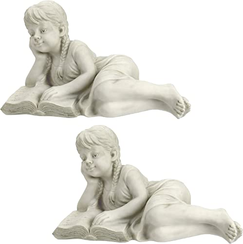 Design Toscano Rebecca Garden Scholar Statue Set of 2