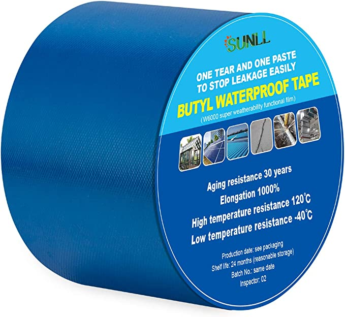 30 Feet by 3 Inches Pond Liner Seam Tape Double Sided Butyl Adhesive REKVEN