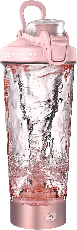Blackube Proteína eléctrica shaker,100% libre de BPA,Tritan,20 oz, Electric Vortex Mixer,Recargable,Electric Blender,Adecuado para personas ...