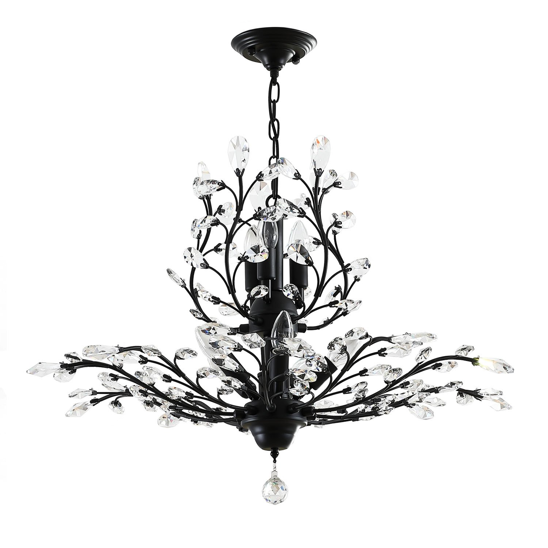 Garwarm 8-Light Vintage Crystal Chandeliers Ceiling Lights LED Light  Crystal Pendant Lighting Ceiling Light Fixtures Chandeliers Lighting for  Living Room ...