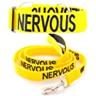 """NERVOUS"" Color Coded Yellow Semi-Choke Dog Collar & 4 Foot Leash Set (Give Me Space) PREVENTS Accidents By Warning Others of Your Dog in Advance!"
