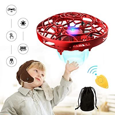Hands Operated Drone for Kids and Adults, Pickwoo P10 Hands-Free Mini Drone Helicopter, Mini UFO Drone with LED Light, Easy Indoor Outdoor Flying Ball, Drone Toys for Boys Girls: Toys & Games