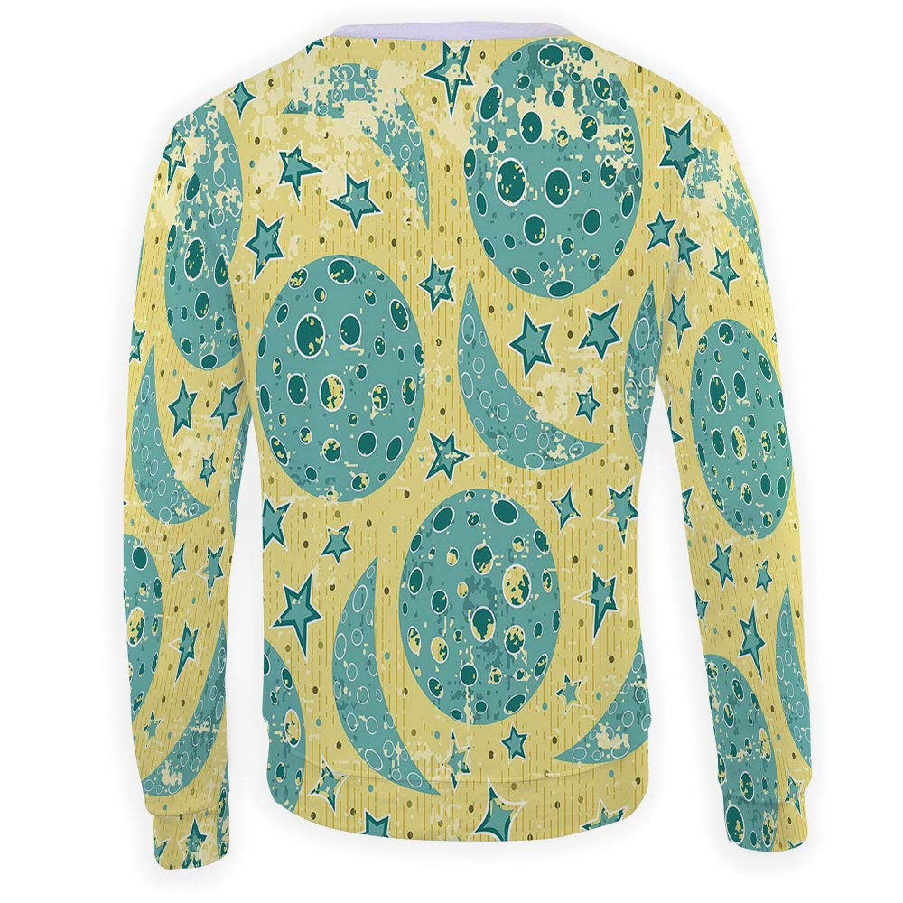 MOOCOM Mens Moon Sweatshirt Pullover