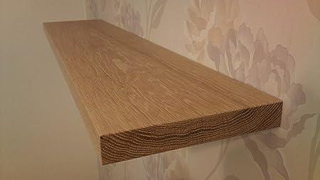 low priced 01c04 5c5f3 Solid Oak Floating Shelf 200mm x 800mm x 33mm concealed ...