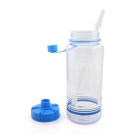 Amazon.com: Boca Ancha PC botella de agua con paja 53 onza ...