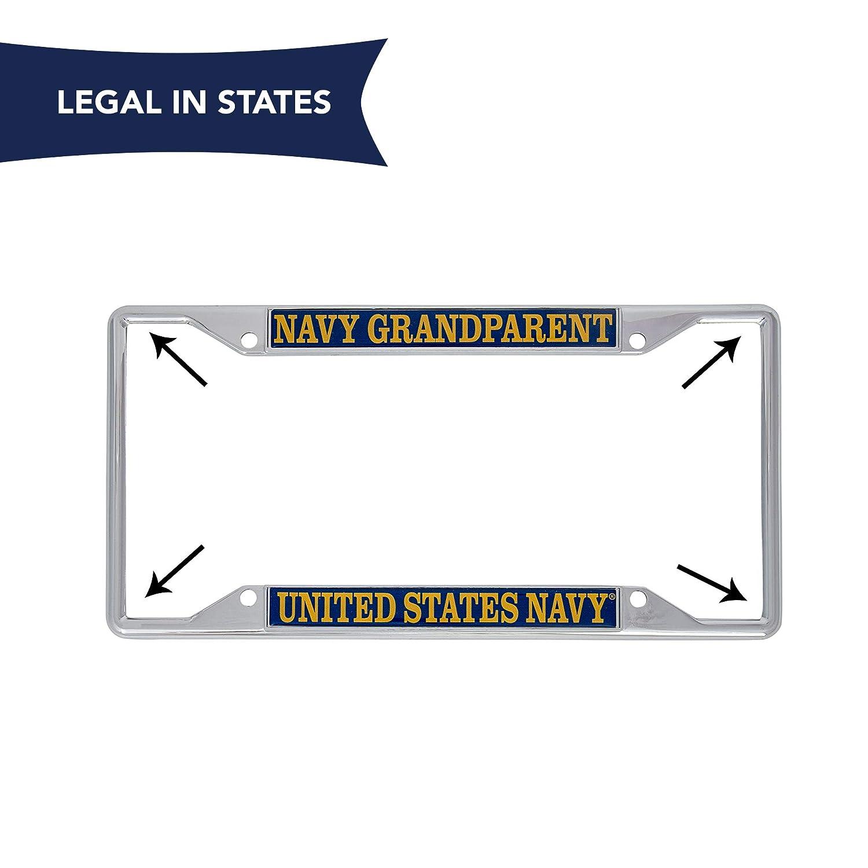 Desert Cactus US Navy Grandparent License Plate Frame for Front Back of Car Officially Licensed United States