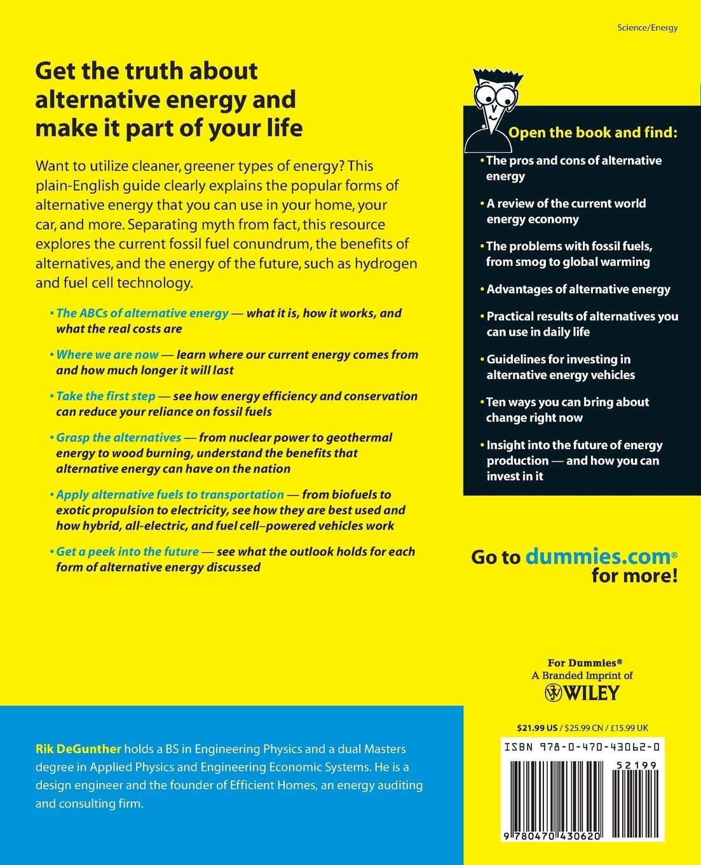 Buy Alternative Energy For Dummies (For Dummies Series) Book Online ...