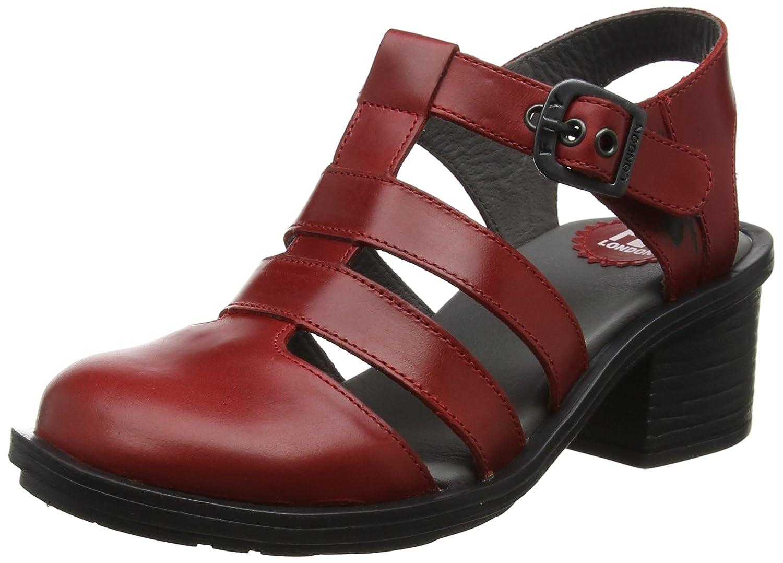 Fly London Cahy195fly, Zapatos de Tacón con Punta Cerrada para Mujer 41 EU|Rojo (Red)
