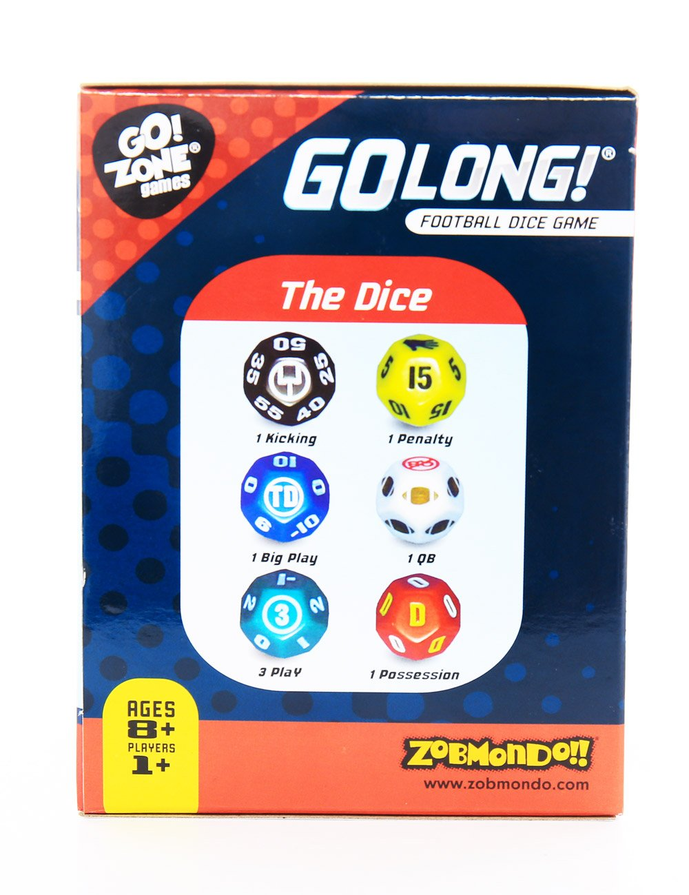 Zobmondo!! Award winning Dice Game, GoLong! A Football Dice Game - Super Fun Game - Portable, Playing Dice : Perfect For - Travel, Home, Parties, Gifts, Stocking Stuffers by Zobmondo!! (Image #6)