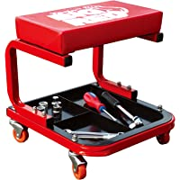 Torin Big Red Rolling Creeper Mechanic Stool with Tool Tray
