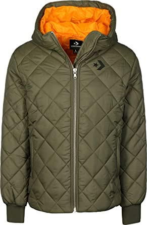 Poly Puffer Olive Med Quilted Converse fS5vxwqAq