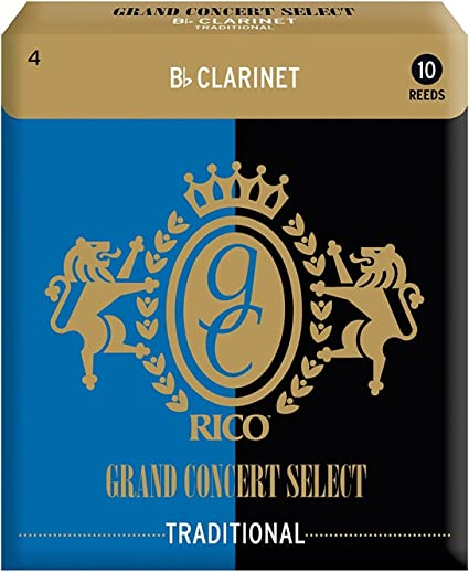 CAÑAS CLARINETE - Rico Grand Concert Select (Tradicional) (Dureza 4) (Caja de 10 Unidades): Amazon.es: Instrumentos musicales