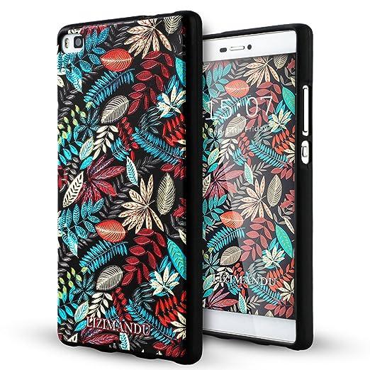 29 opinioni per Huawei P8 Cover,Lizimandu Creative 3D Schema UltraSlim TPU Copertura Della Cassa