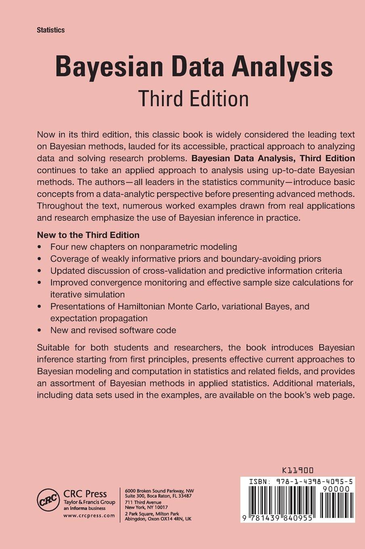 Bayesian data analysis third edition chapman hallcrc texts in bayesian data analysis third edition chapman hallcrc texts in statistical science amazon andrew gelman john b carlin hal s stern fandeluxe Image collections