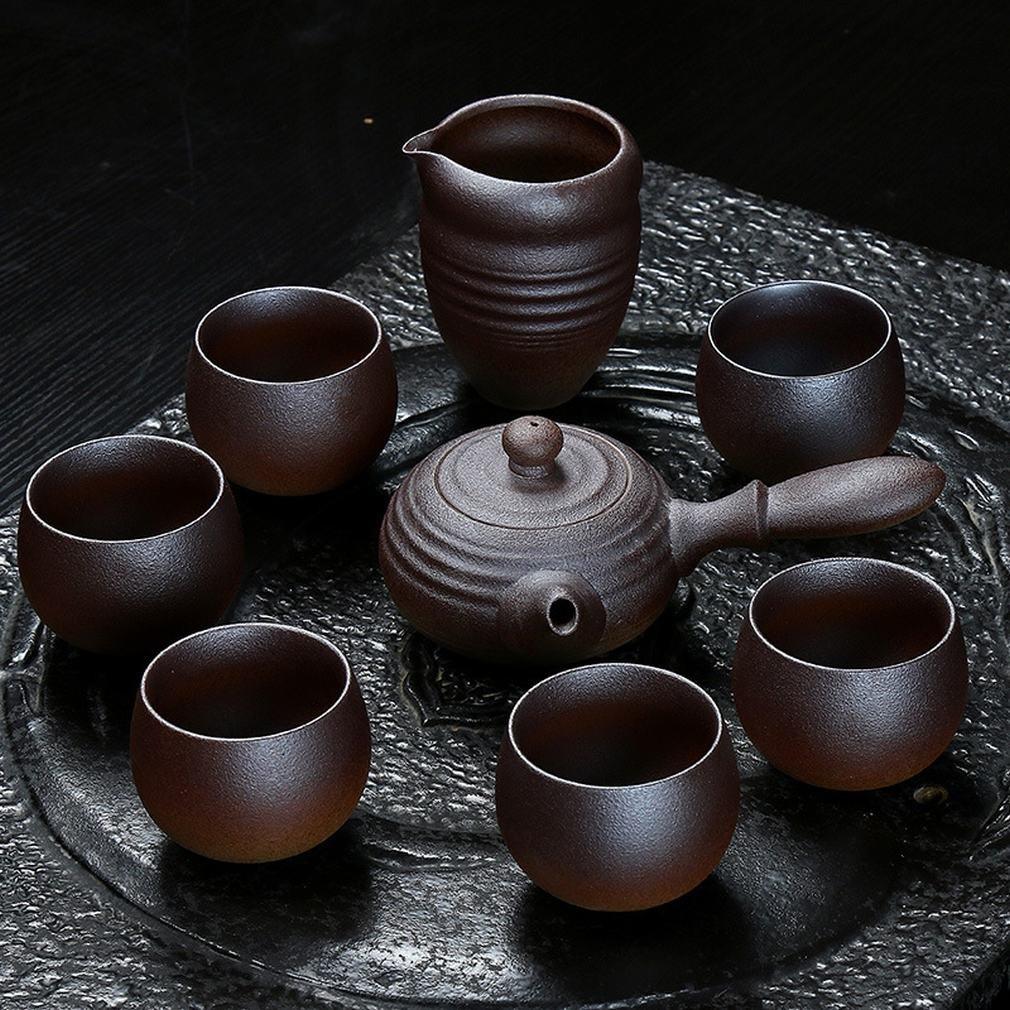 L Y Töpferei Keramik Handgemachte Topf Teekanne Topf Antike Handgemalte Teekanne Seitentopf Tee-Set Kann Feuerholz Keramik Teekanne Erhöhen