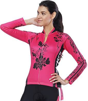 771977bb4 Image Unavailable. Image not available for. Color  QinYing Cycling Jerseys  Long Sleeve Zipper Women s ...