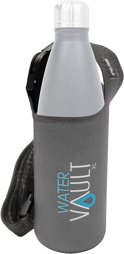 "Water Vault Neoprene Water Bottle Holder W// 56/"" Adjustable Detachable Strap PINK"