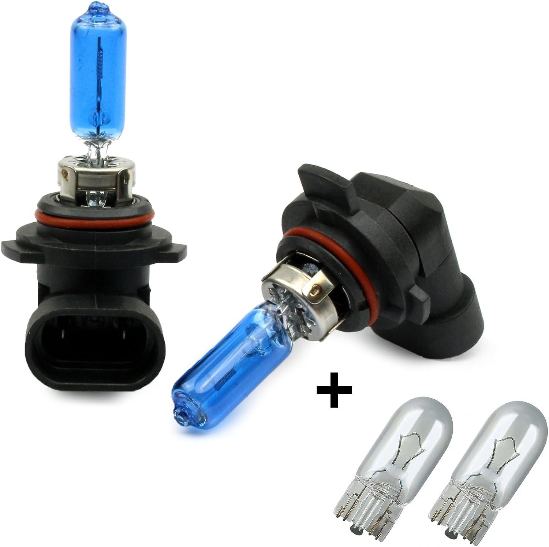 Inion Set 2x StÜck Hir2 55w 9012 12v Xenon Optik Px22d Kalt Weisse Farbe Halogen Lampe Birnen Kfz GlÜhlampe 2x Stück T10 Glassockellampen Autolampen Auto