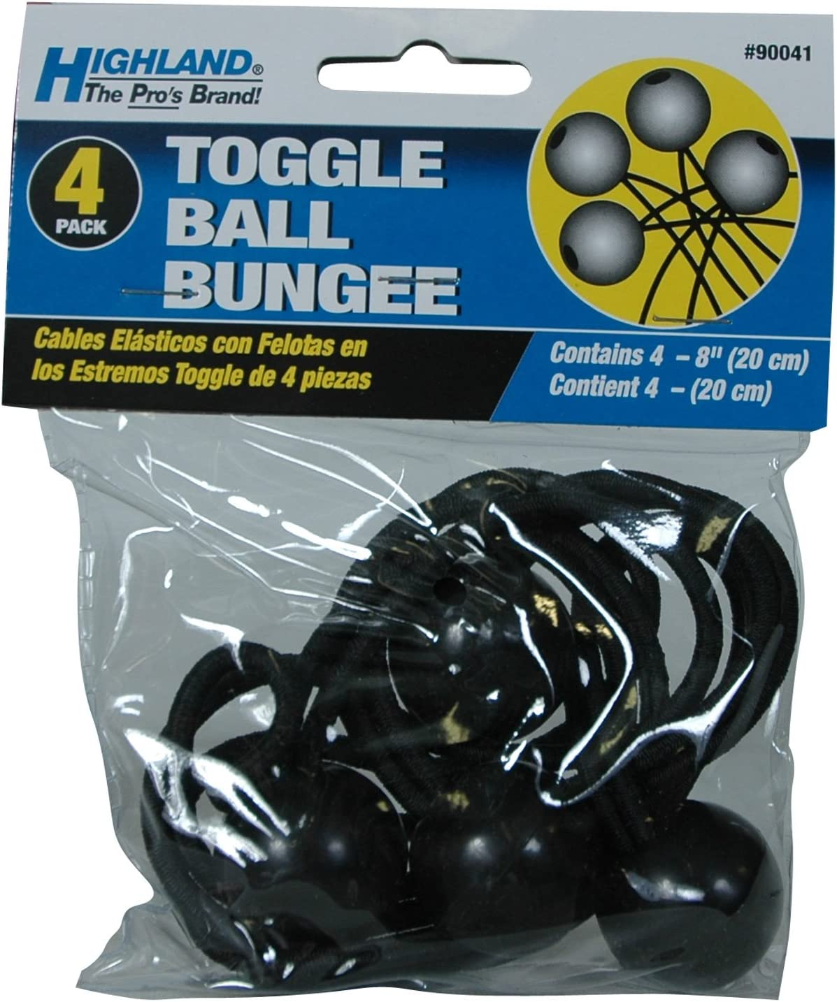 """Highland pro Toggle ball bungee 4-8/"""" bungee balls part # 90041 4 per pack"""