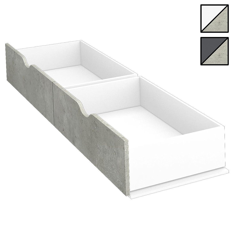 Bett MALISO 120 x 200 cm Alpin-Weiß Breite 125 cm, Höhe 54 cm, Tiefe ...