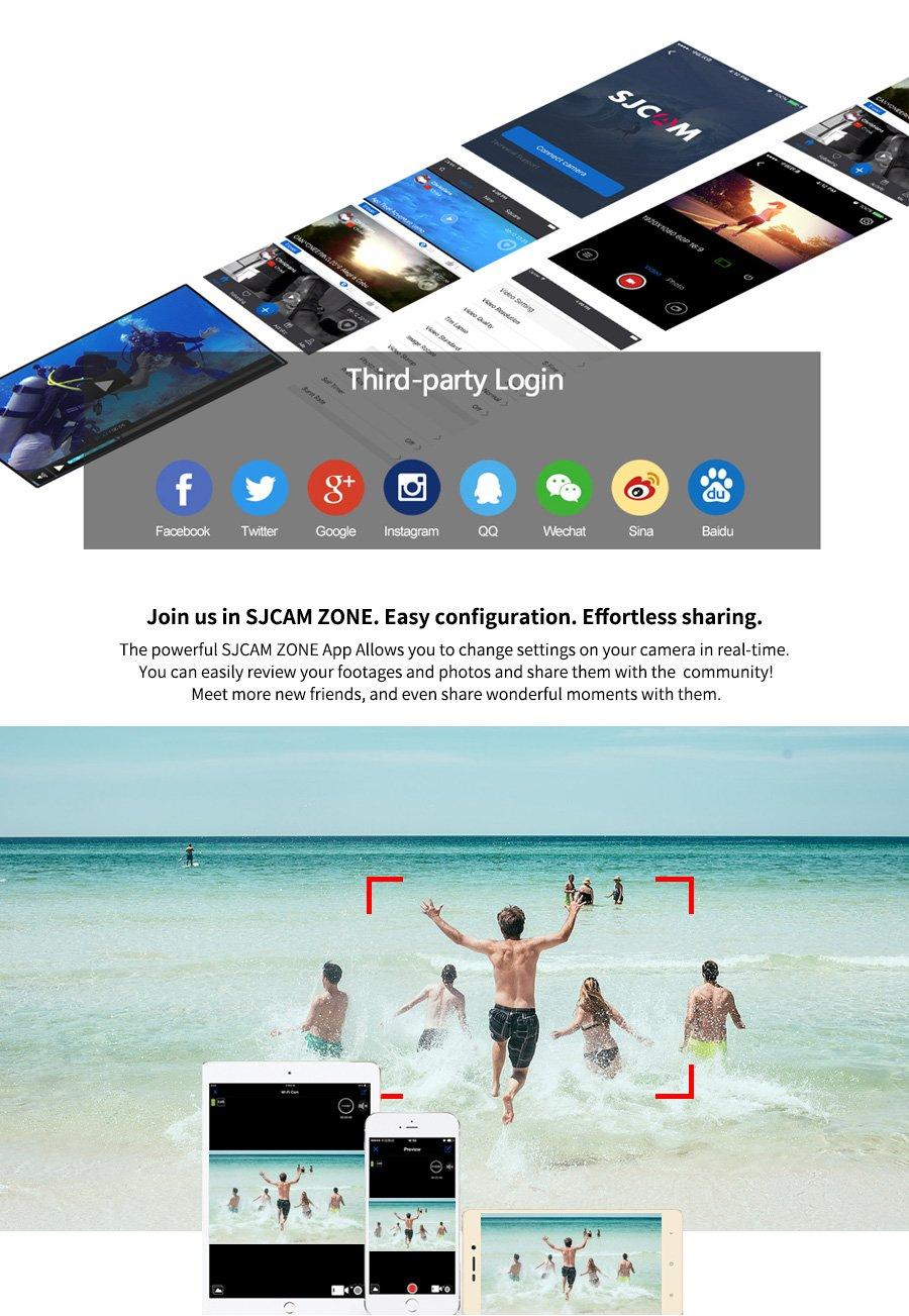 Newest Original SJCAM SJ7 Star Sport Action Camera 4K 30fps Ultra HD 1080P Action Cam 2.0'' Touch Screen Waterproof Sport DV Camera (Silver)