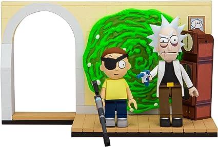 McFarlane Toys Rick and Morty Evil Rick and Morty and Smith Garage Rack Micro Construction Playset