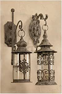 Aged Metal Outdoor Lantern
