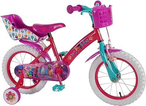 TROLLS 14 Pulgadas – Bicicleta Infantil con Freno de contrapedal ...