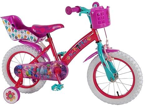 Bicicleta Chica 14 Pulgadas Trolls Ruedas Extraíbles la Cesta y ...