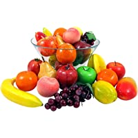 Set of 26 Realistic Artificial Fake Fruit Lifelike Decorative Foam Food Set for Home, Kitchen, Party Decor