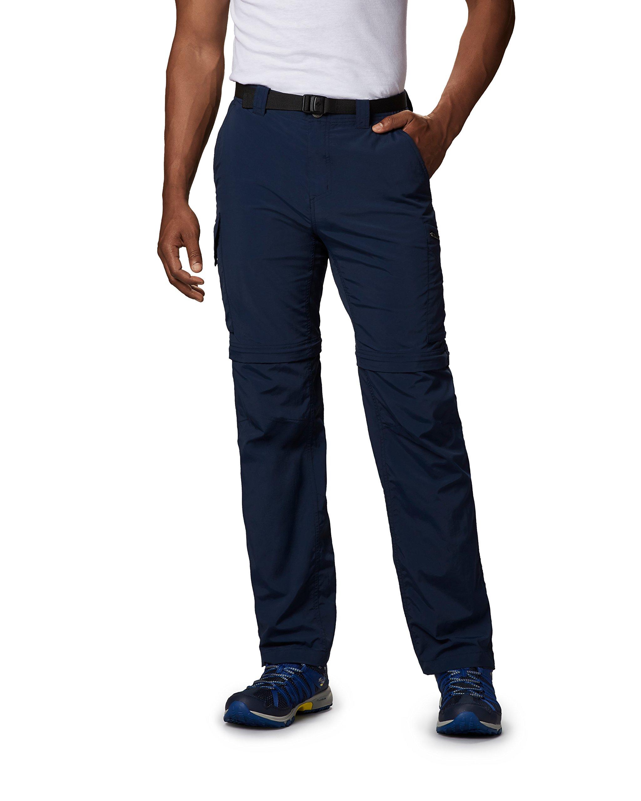 Columbia Men's Silver Ridge Convertible Pant, Breathable, UPF 50 Sun Protection, Collegiate Navy, 30x32
