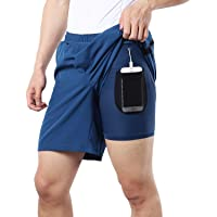"BERGRISAR Heren 7"" Active Running Shorts 2 in 1 met telefoon Pocket BG600"