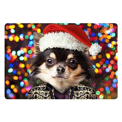 Hikty Christmas Dog Doormat Welcome Door Mat Rug Indoor