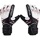 Youth&Adult Goalie Goalkeeper Gloves,Strong Grip for The Toughest Saves, with Finger Spines to Give Splendid Protection…