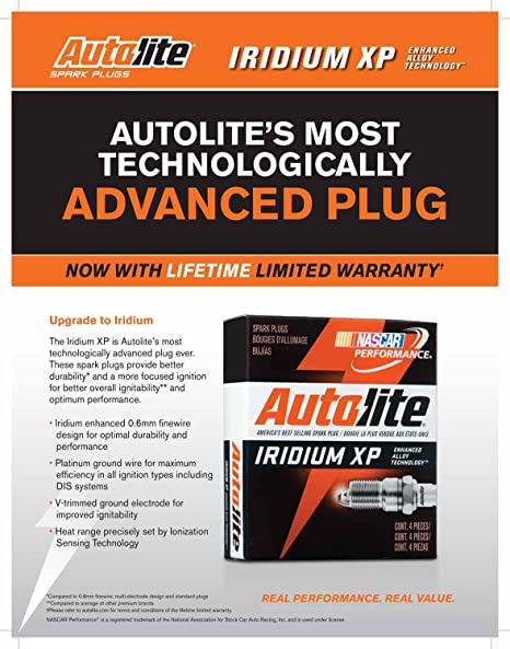 Amazon.com: Autolite XP5224-4PK Iridium XP Spark Plug, Pack of 4: Automotive