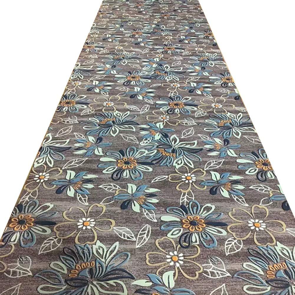 JIAJUAN 追加の 長いです ホール 廊下のカーペット ランナー ラグ 滑り止め 丈夫 キッチン 寝室 床 マット、 6mm (色 : A, サイズ さいず : 1.6x6m) 1.6x6m A B07RBXPLN3