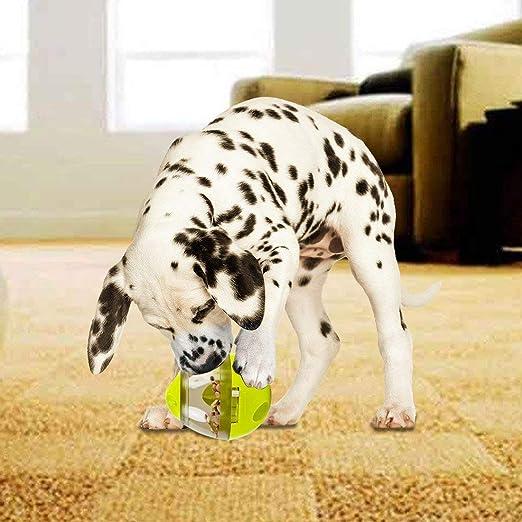 MBTRY Juguetes para perros y gatos ejercicio de entrenamiento para jugar en interiores color verde y rojo