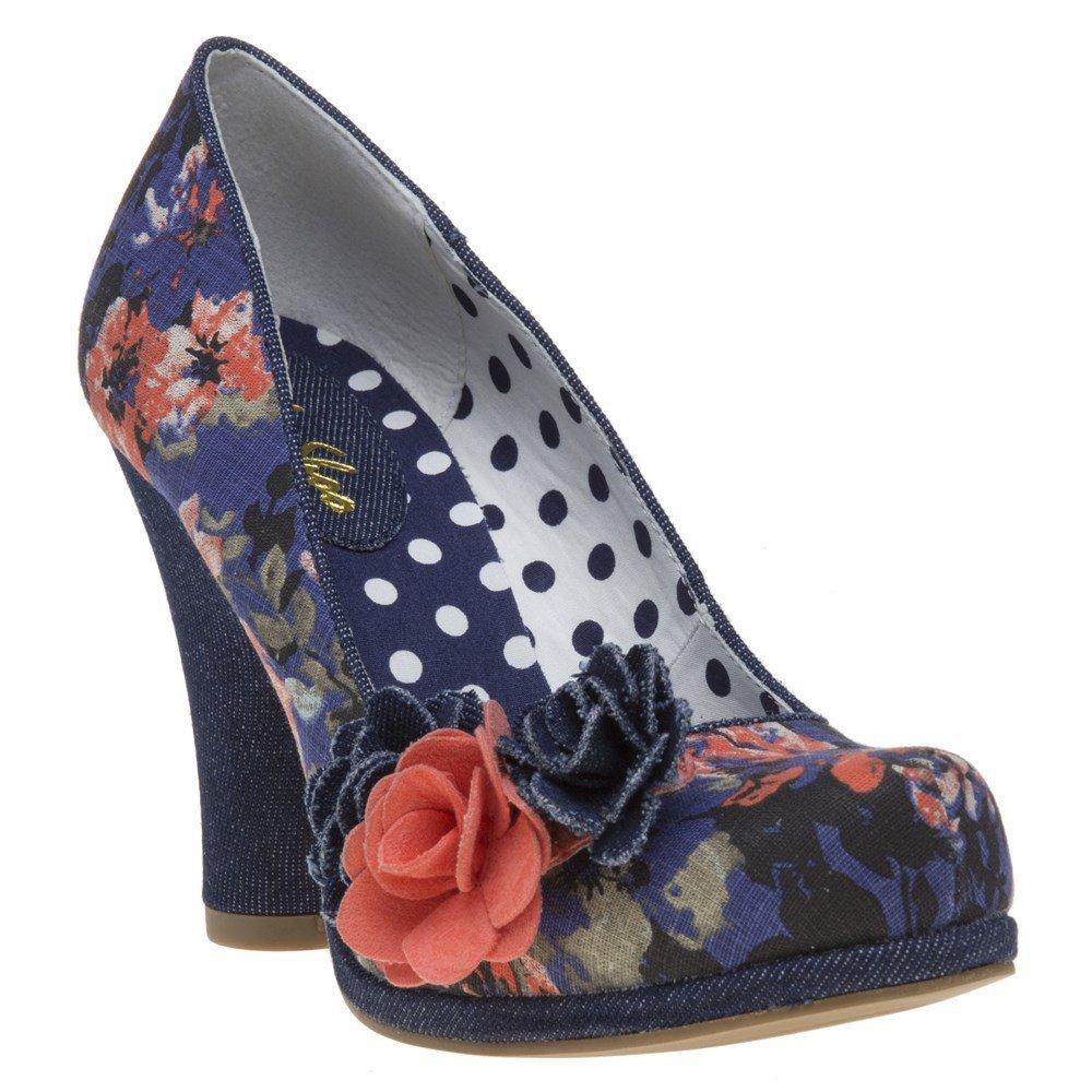 Ruby Shoo Blue Floral Eva Court Shoe Pumps UK 3 EU 36