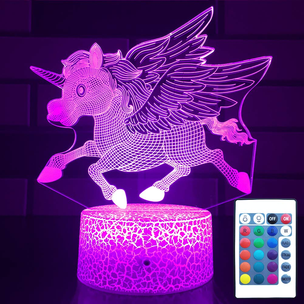 HLLKYYLF Unicorn Gifts for GirlsUnicorn Night Light for Kids Unicorn Light with